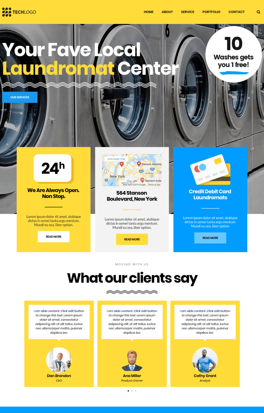 Laundry Elementor Template