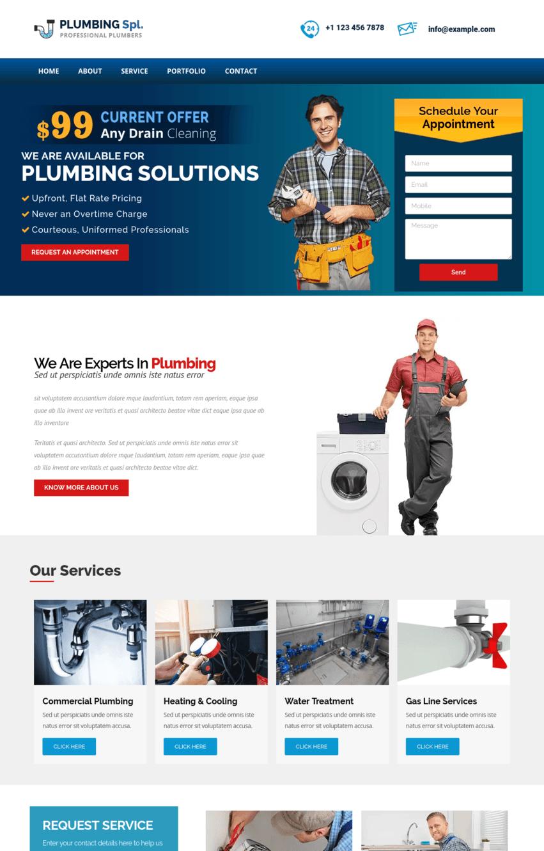 Plumbing Elementor Template