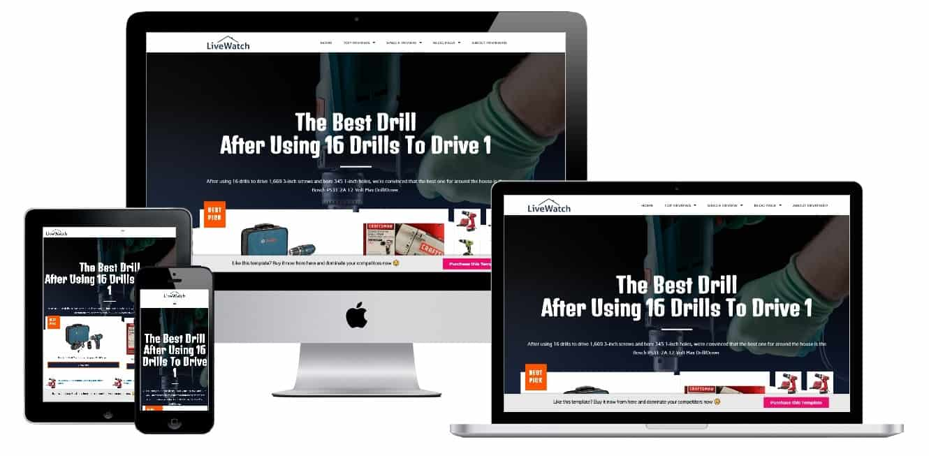 Amazon Affiliate Landing Page Template 1