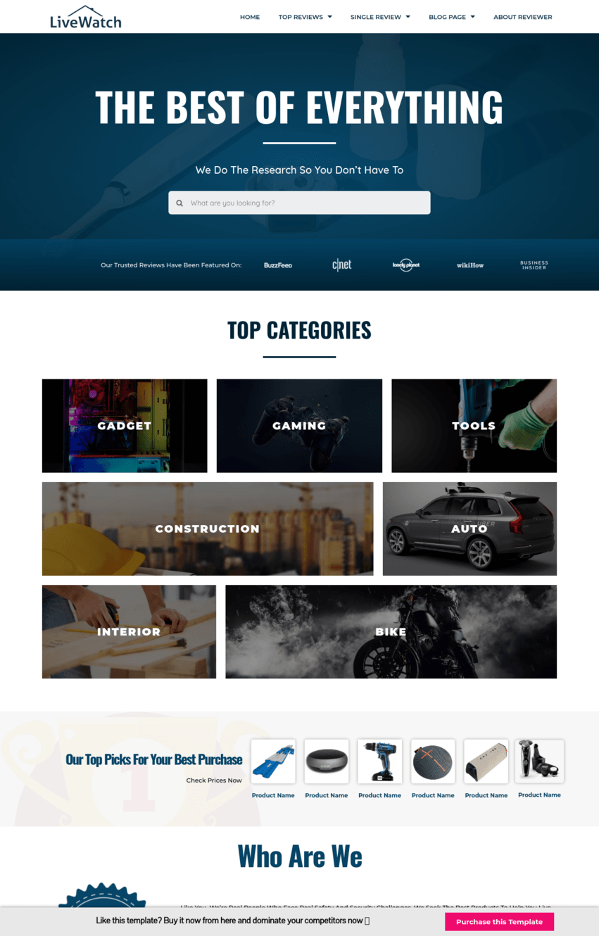 Amazon Affiliate Homepage Template
