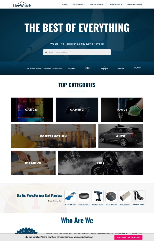 Amazon Affiliate Homepage Template