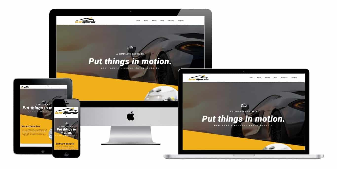 Car Site Homepage