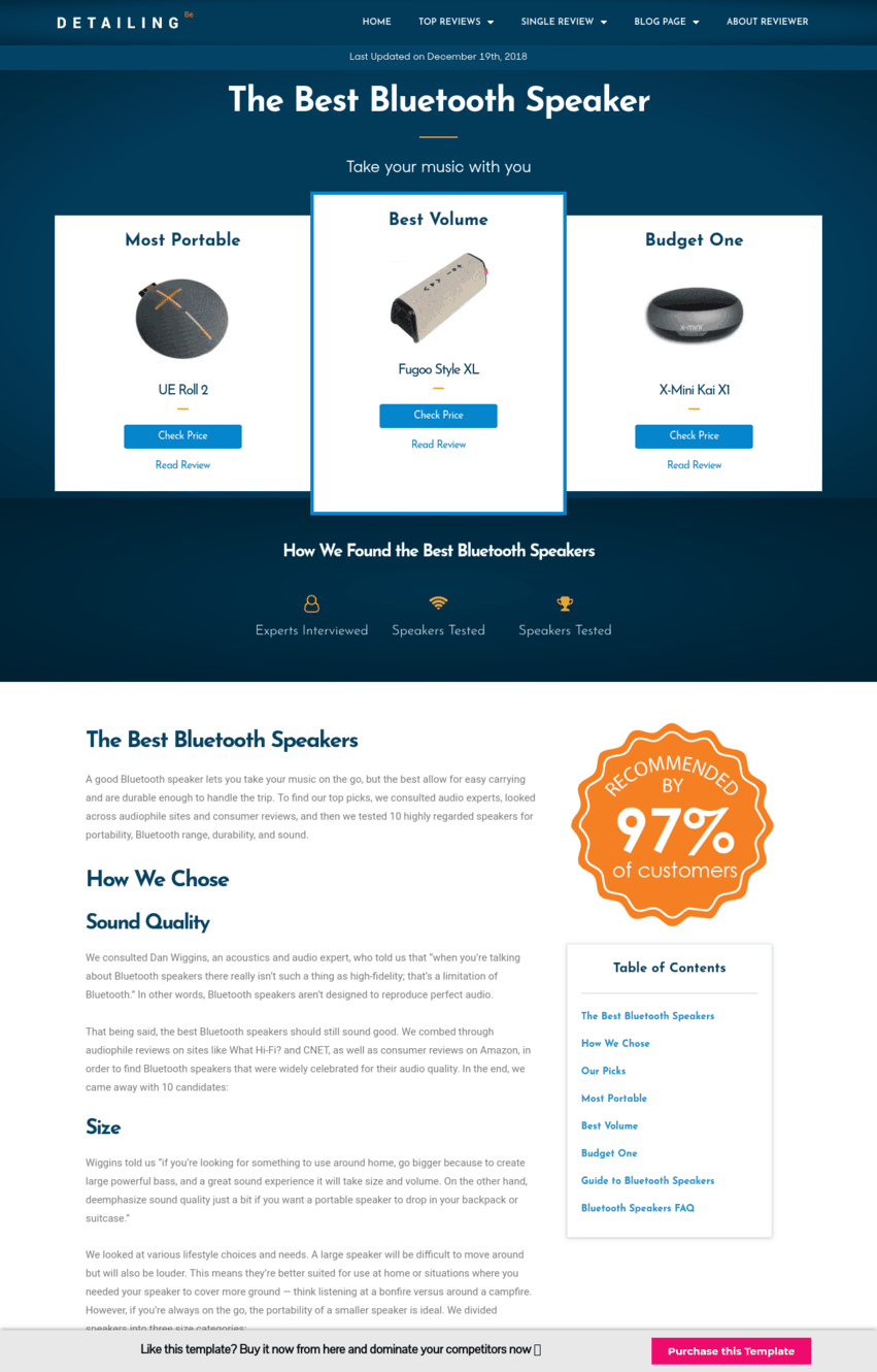 Amazon Affiliate Landing Page Template 4