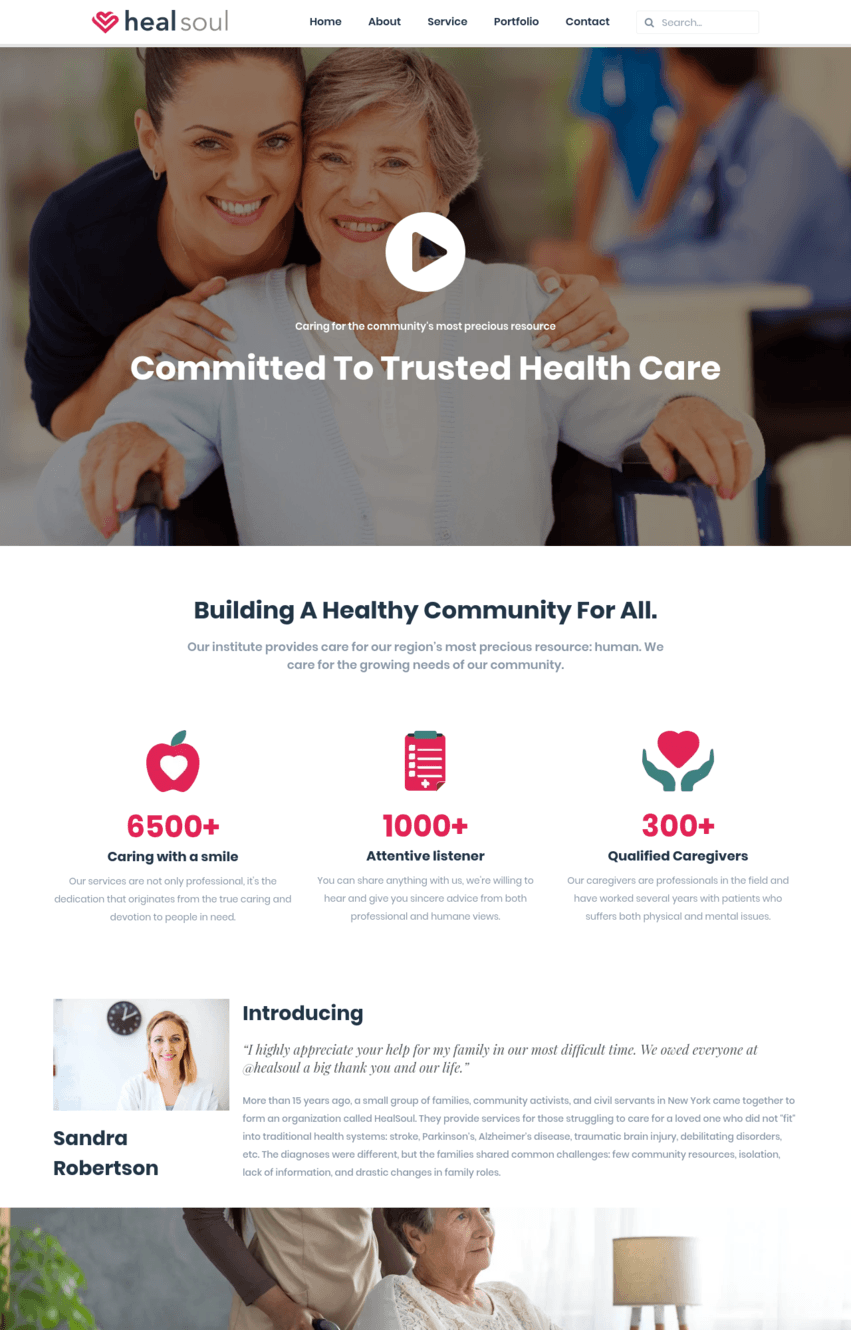 Healthcare About Page Template