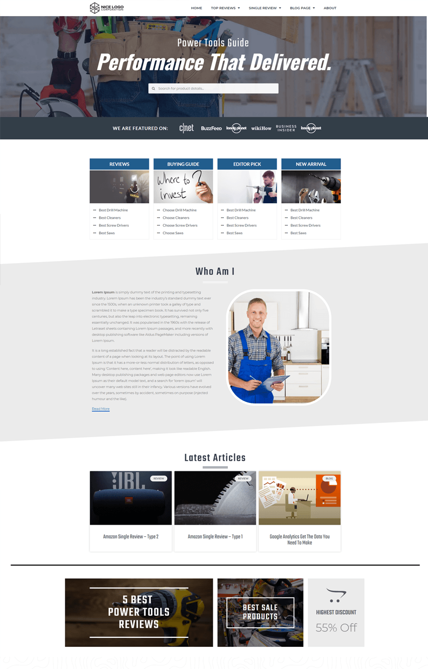 Amazon Homepage Template V2