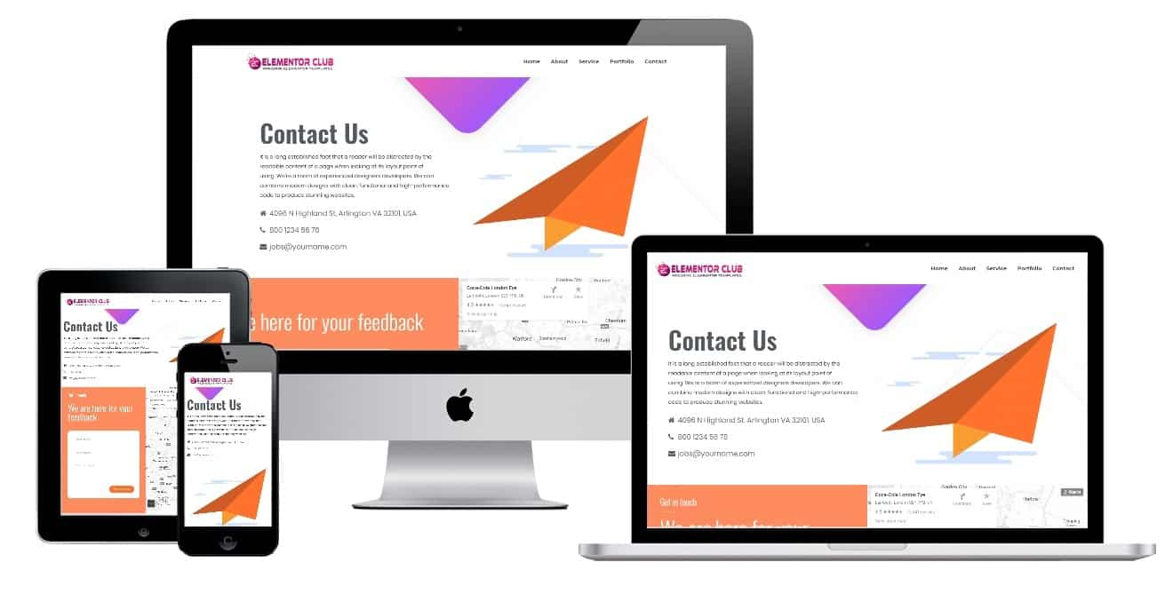 Elementor Contact Page Template
