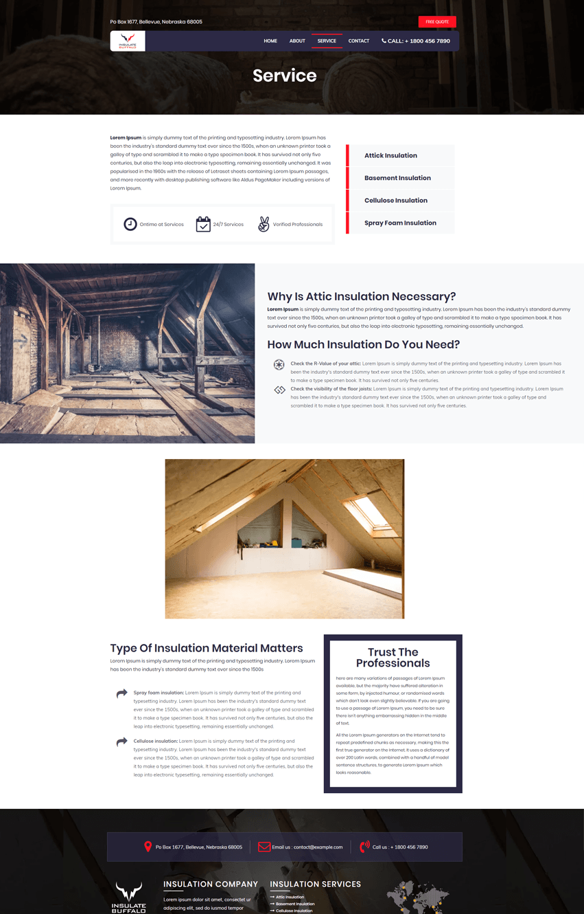 Insulation Service Page Template