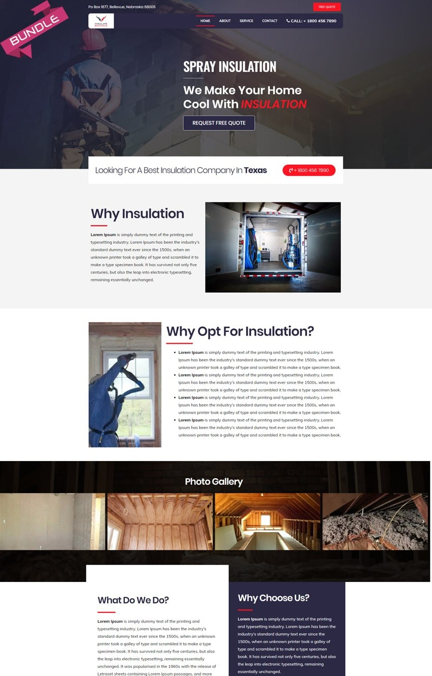 Insulation Company Templates Bundle