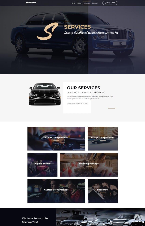 Limousine Service Page Elementor Template