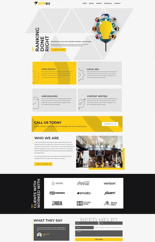 Digital-Marketing-SEO Elementor template