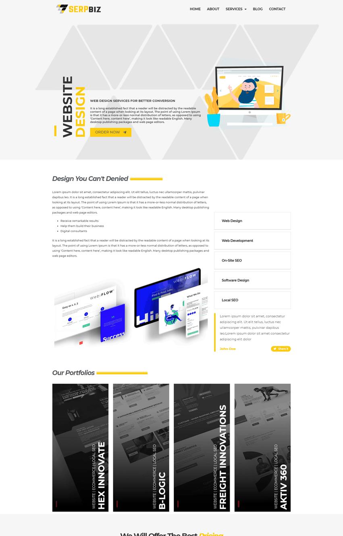 Digital Marketing & SEO Single Service Page Template