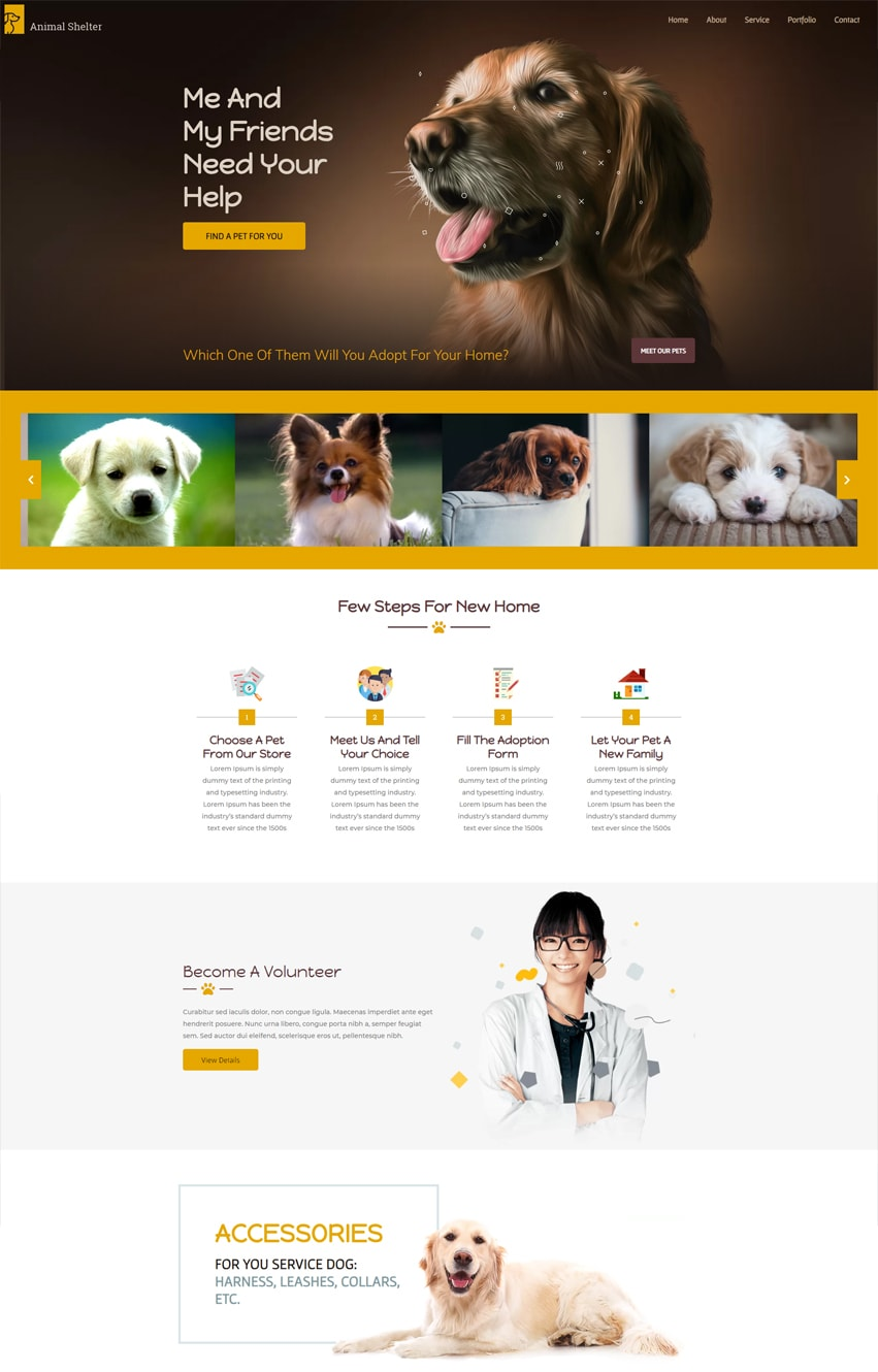 Dog House Elementor Template