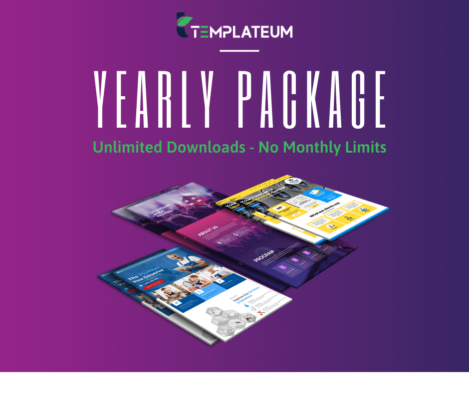 Yearly Membership Package for Templateum