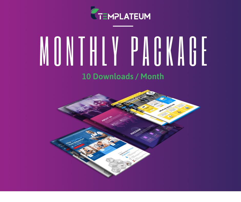 Monthly Membership Package for Templateum