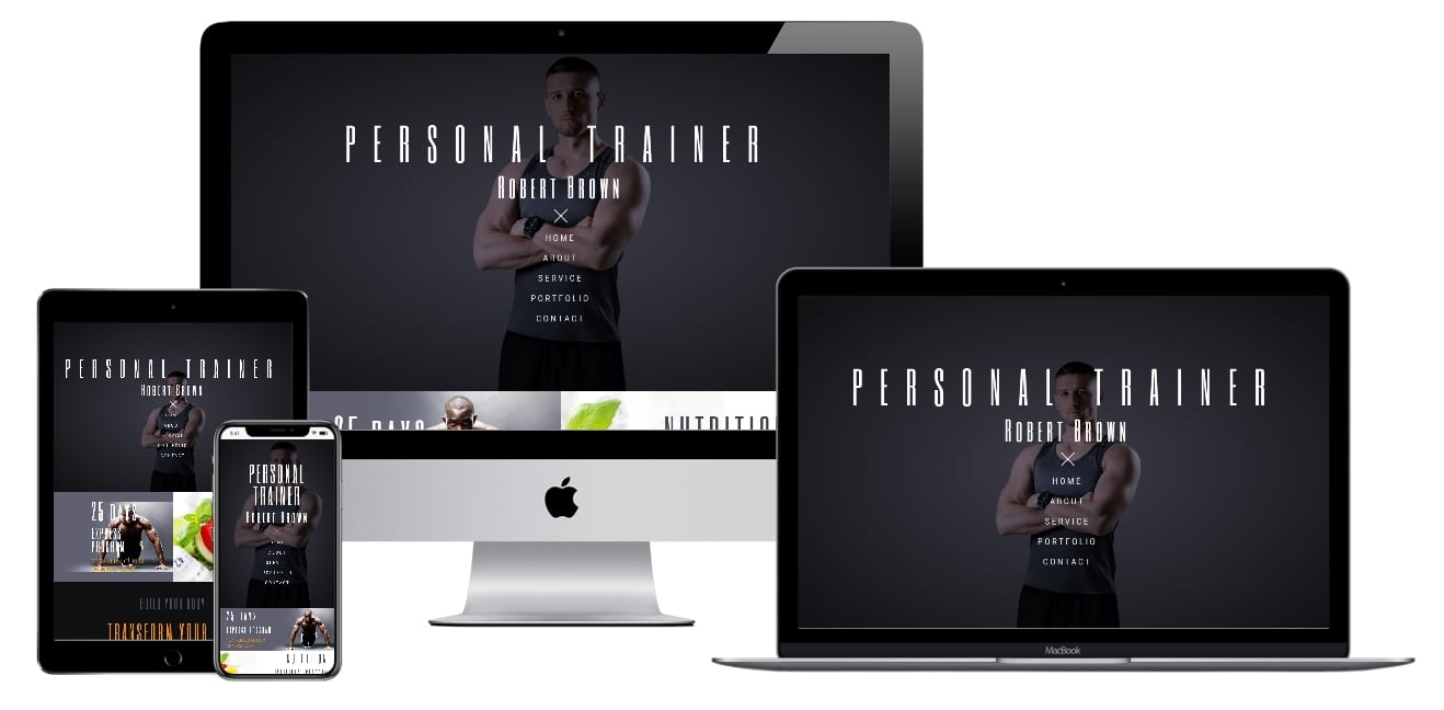 Personal Trainer Elementor Template