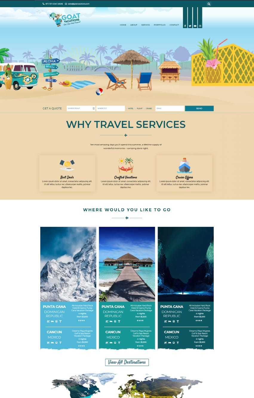 Travel Website Elementor Template
