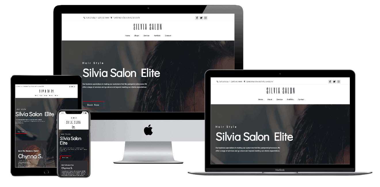 Hair & Beauty Salon Elementor Template
