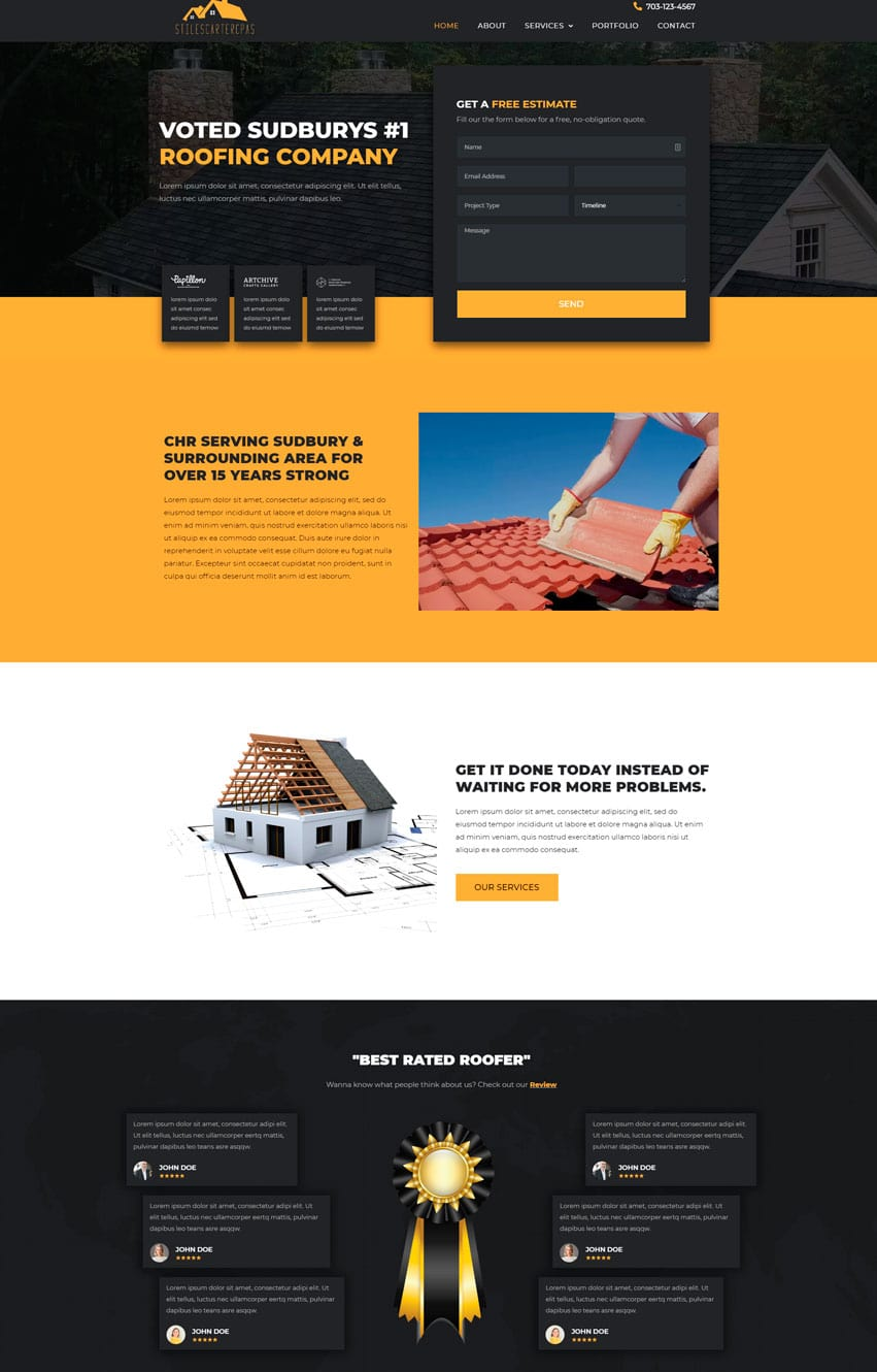 Roofing Company Elementor Template